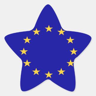 European union flag star sticker
