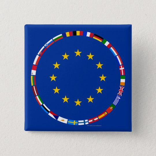 European Union Flags Button