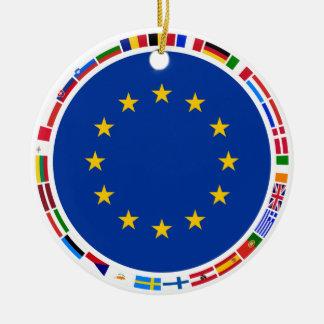 European Union Flags Ceramic Ornament