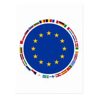 European Union Flags Postcard