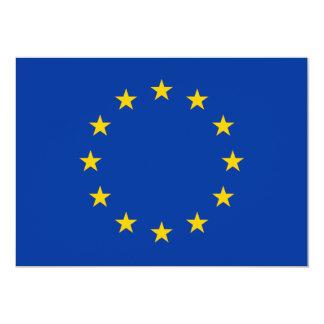 European Union 5x7 Paper Invitation Card