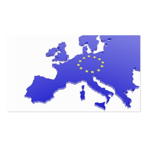 European union map business card templates