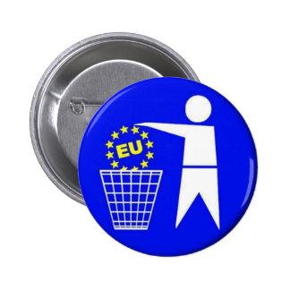 European union-protest pinback button