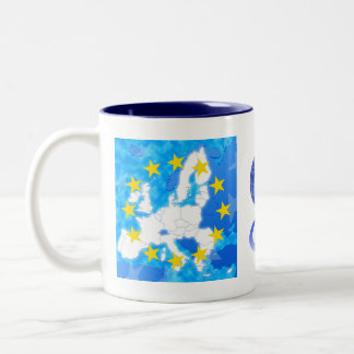 European Union Two-Tone Coffee Mug