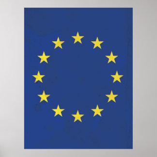European Union vintage travel poster
