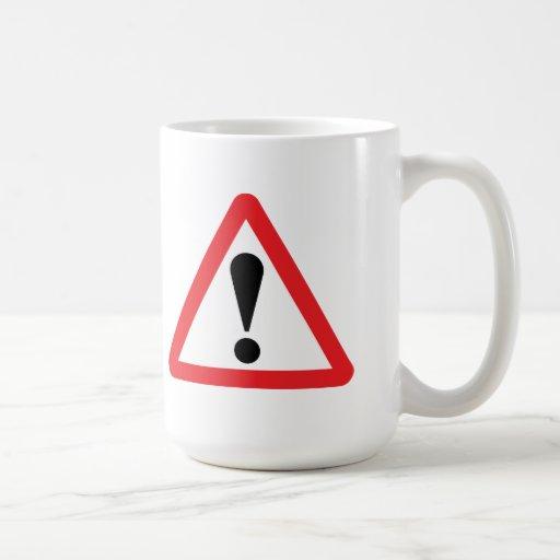European Warning Road Sign Mug