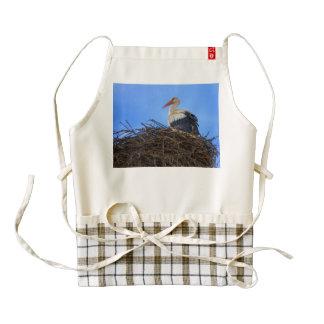 European white stork, ciconia, in the nest zazzle HEART apron
