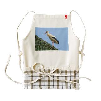 European white stork, ciconia zazzle HEART apron