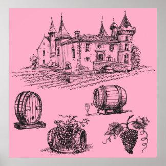 European Winery Print