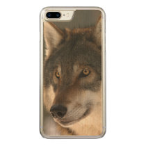 European Wolf Carved iPhone 8 Plus/7 Plus Case