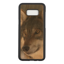 European Wolf Carved Samsung Galaxy S8  Case