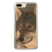 European Wolf Carved iPhone 8 Plus/7 Plus Case