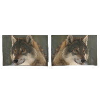 European Wolf Pillow Case