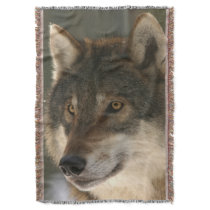 European Wolf Throw