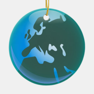 European World Ceramic Ornament