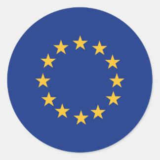 Europeanunion flag classic round sticker