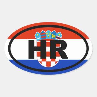 Europeo de Croacia hora Pegatina Ovalada