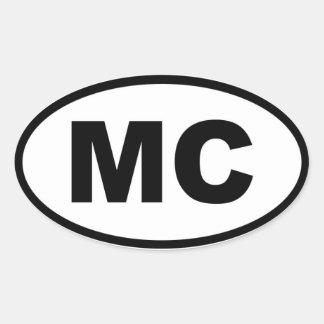 Europeo de Mónaco bujía métrica Pegatina Oval Personalizadas