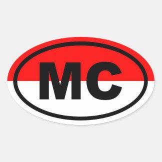 Europeo de Mónaco bujía métrica Pegatina Ovalada