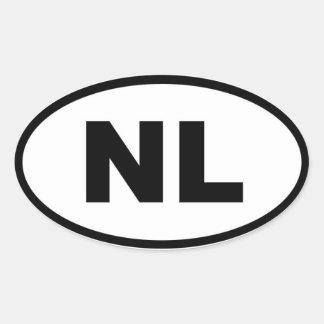 Europeo de Países Bajos NL Calcomanía Ovaladas Personalizadas