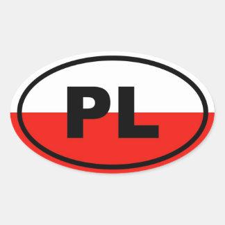 Europeo de Polonia PL Colcomanias Óval