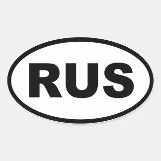 Europeo de Rusia RUS Etiqueta