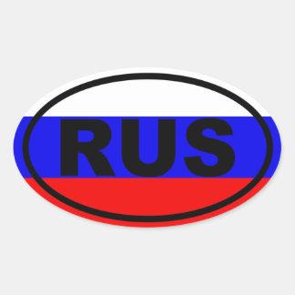 Europeo de Rusia RUS Calcomanías Ovales