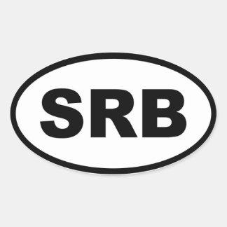 Europeo de Serbia SRB Colcomanias Oval Personalizadas