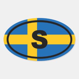 Europeo de Suecia S Calcomanías De Ovaladas
