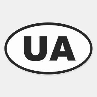 Europeo de Ucrania UA Pegatina De Oval Personalizadas