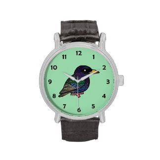 Europeo Starling de Birdorable Relojes