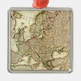 EuropePanoramic MapEurope 2 Adorno Navideño Cuadrado De Metal