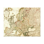 EuropePanoramic MapEurope 2 Gallery Wrap Canvas