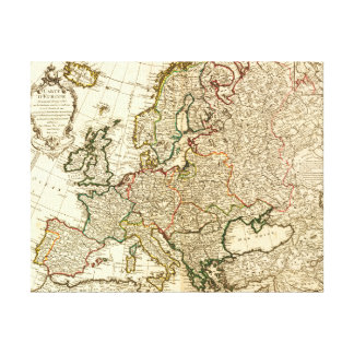 EuropePanoramic MapEurope 2 Impresiones En Lienzo Estiradas
