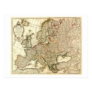 EuropePanoramic MapEurope 2 Postcard