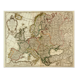 EuropePanoramic MapEurope 2 Poster