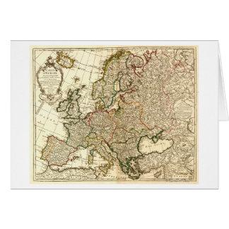 EuropePanoramic MapEurope 2 Tarjeta De Felicitación
