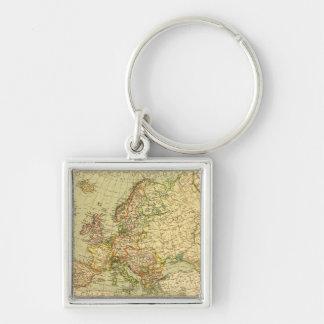 EuropePanoramic MapEurope 3 Keychains