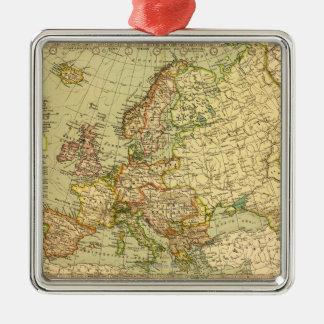 EuropePanoramic MapEurope 3 Ornament