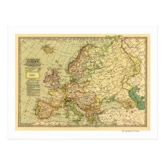 EuropePanoramic MapEurope 3 Post Card