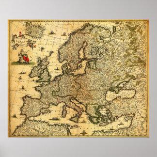 EuropePanoramic MapEurope 3 Posters