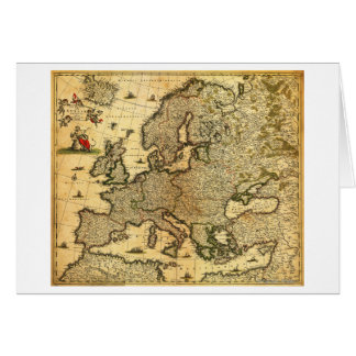 EuropePanoramic MapEurope Greeting Card