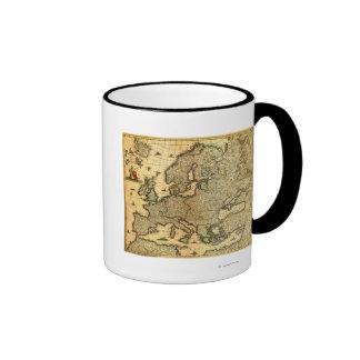 EuropePanoramic MapEurope Coffee Mugs
