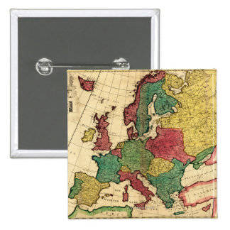 EuropePanoramic MapEurope Pinback Button