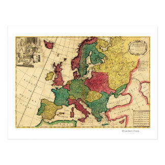 EuropePanoramic MapEurope Postcard