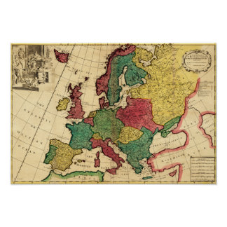 EuropePanoramic MapEurope Print