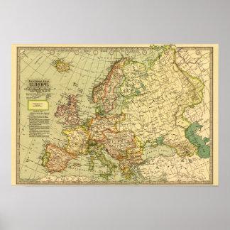 EuropePanoramic MapEurope Poster