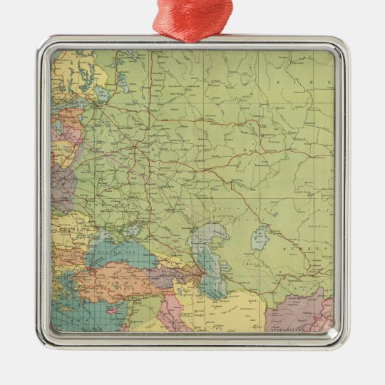Europe's overland, sea communications metal ornament