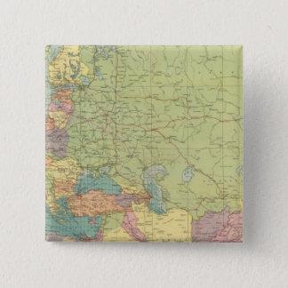 Europe's overland, sea communications pinback button
