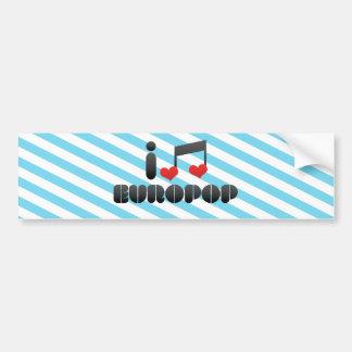 Europop fan bumper stickers